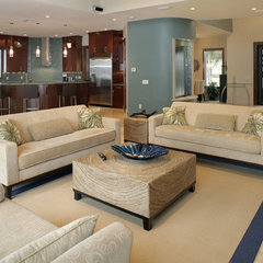 contemporary living room by Devonshire Custom Homes