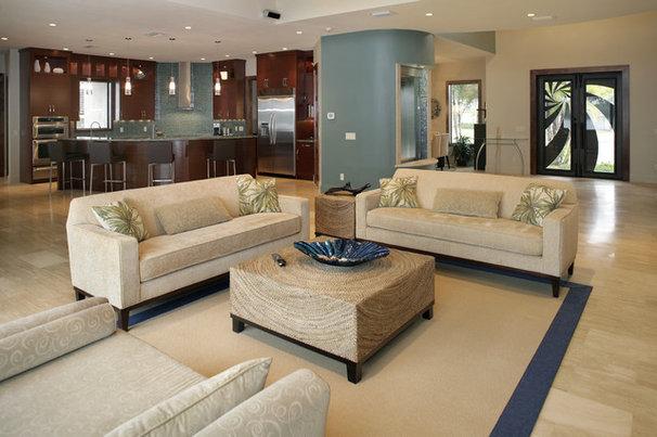 Contemporary Living Room by Devonshire Custom Homes