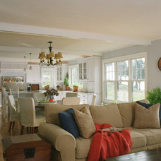 Traditional Living Room by Thorson Restoration & Construction