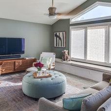 Beach Style Living Room by Stone Creek Builders