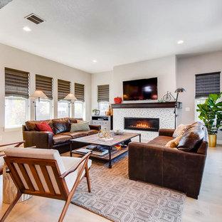 Living Room   Farmhouse Living Room Idea In Denver