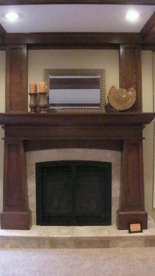 Custom Oak Art & Craft style Fireplace