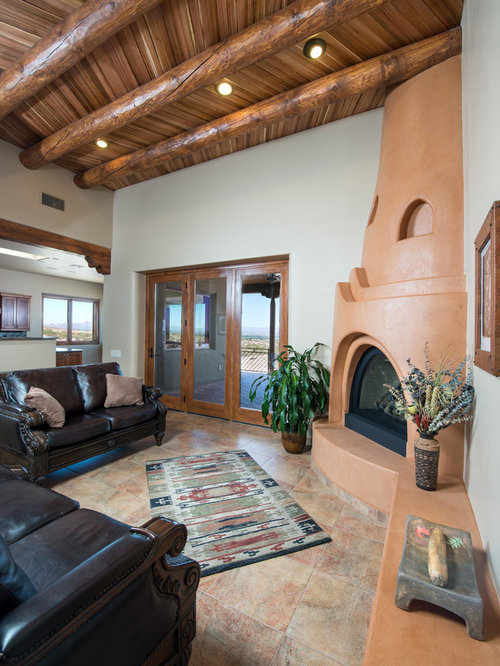 Adobe Fireplace Houzz