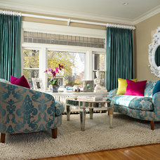 Contemporary Living Room Custom Rug designed for Lilu Interiors