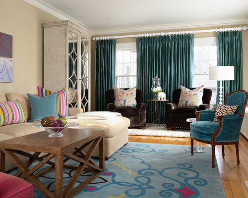 teal curtains | houzz