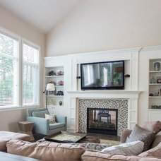 Transitional Living Room by Calista Interiors