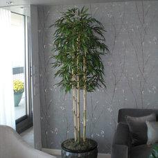 Asian Living Room by The Silk Thumb, LTD