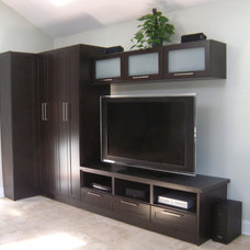 Contemporary Living Room by Perfection Custom Closets