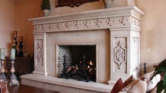 Custom Stonework - Decorative Fireplace
