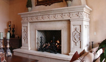 Custom Stonework - Decorative Fireplace