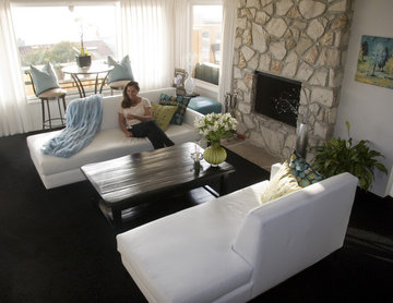 Custom Tight Back Pair of Chaise Lounges w/ Rock | The Sofa Companyw