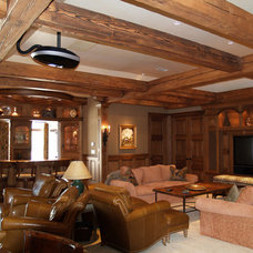 Traditional Living Room by Larry J. Wheeler, inc.