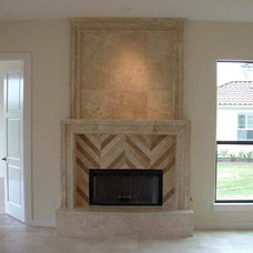 Traditional Living Room by Old World Stone Imports