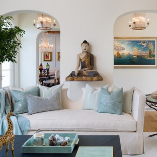 Custom Upholstered Sofa and Luxury Living Room Accessories