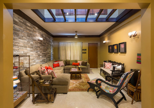 Contemporary Living Room by Shefali Singh, Architect