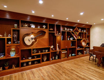 Custom wall unit that is art in and of itself!