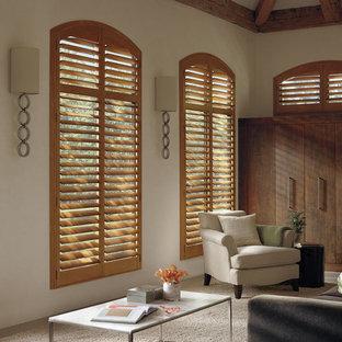 Custom Window Treatment-Wood Shutters