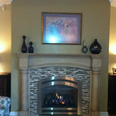 Transitional Living Room by Bowling Green Fireplace & Grill