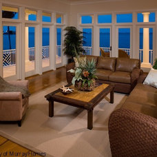 Mediterranean Living Room by Clifford M. Scholz Architects Inc.