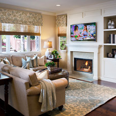 Traditional Living Room by Style On a Shoestring