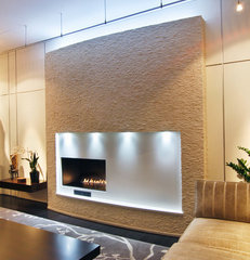 contemporary living room by Karrick