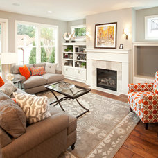 Traditional Living Room by Ridge Creek Custom Homes