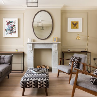Inspiration for a scandinavian living room remodel in London