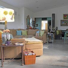 Industrial Living Room by Sarah Greenman
