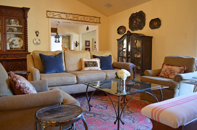 French Country Living Room On A Budget Traditional Living Room By