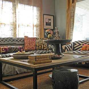 Eclectic living room photo in Dallas