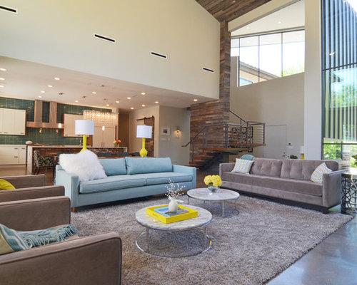 grey turquoise sofa living room | houzz