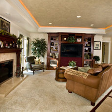 Traditional Living Room by ML Custom Interiors