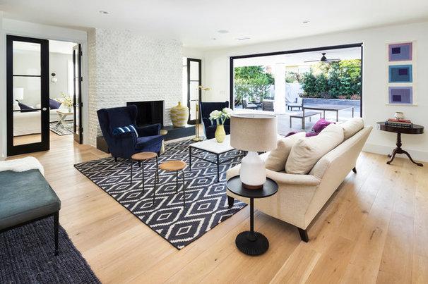 Transitional Living Room by Von Fitz Design