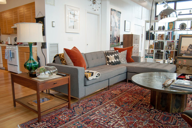 Industrial Living Room by Adrienne DeRosa