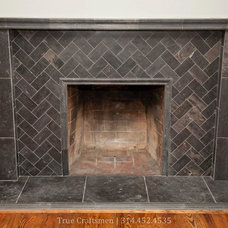 Traditional Living Room by Westside Tile & Stone, Inc.
