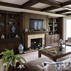 Traditional Living Room by Mueller Nicholls Cabinets and Construction