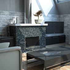 Modern Living Room by Glass Tile Warehouse