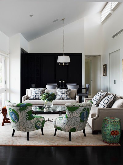 Transitional Living Room by The Quinlan Group