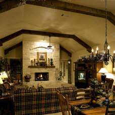 Traditional Living Room by Eppright Custom Homes