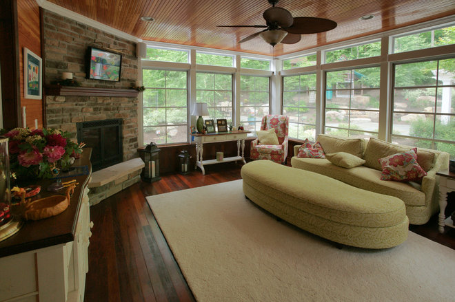 Traditional Living Room by Fine Decks Inc