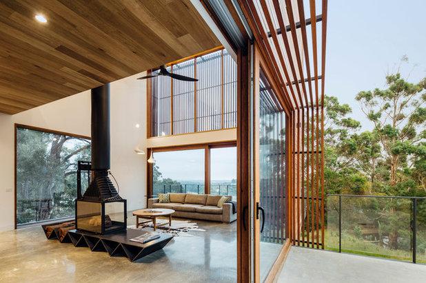 コンテンポラリー リビング・居間 by Moloney Architects