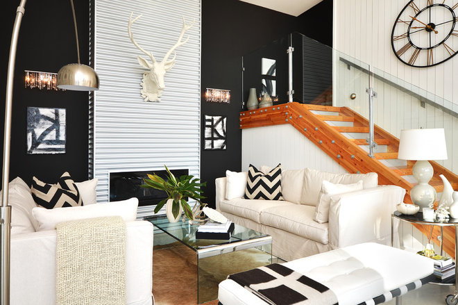 Contemporary Living Room by Dawna Jones Design