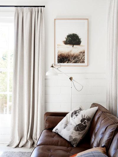 Scandinavian Living Room by One Girl Interiors