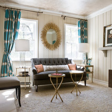 Transitional Living Room by LORNA GROSS Interior Design