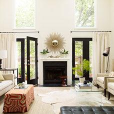 Eclectic Living Room by Lauren Liess Interiors