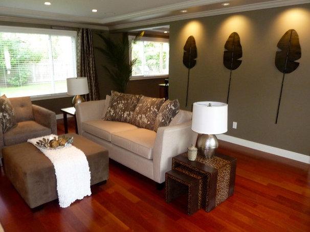 Asian Living Room by Debbie Etheridge Interior Design