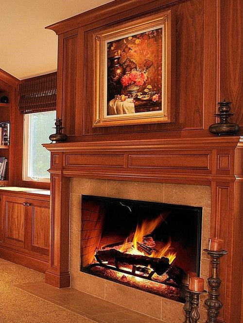 Elevated Fireplace | Houzz