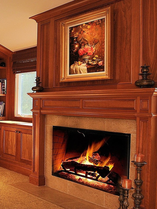 Elevated Fireplace Houzz