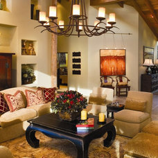 rustic living room by Debra Campbell Design
