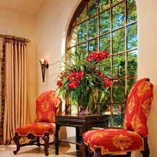 Mediterranean Living Room by Debra Campbell Design